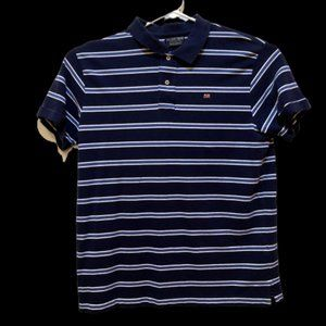 Polo Jeans Company Men's Large Blue Striped Shirt